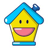 Insurance house icon, cartoon style. Insurance house icon. Cartoon illustration of insurance house vector icon for web Royalty Free Stock Photography