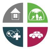Insurance Icon Royalty Free Stock Photo