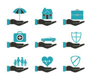 Insurance icon design Royalty Free Stock Photography