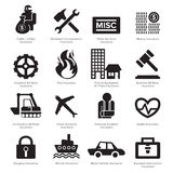 Insurance icon Stock Photography