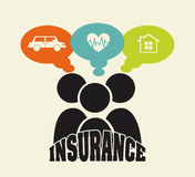 Insurance icon Royalty Free Stock Images