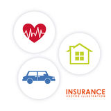 Insurance icon Stock Images