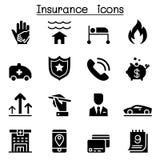 Insurance icon set. Illustration graphic design Royalty Free Stock Image