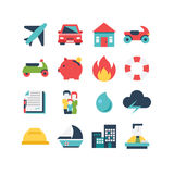 Insurance Icon Set. A set of insurance related icons, eps 10, no transparencies Royalty Free Stock Photo