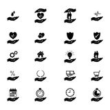Insurance icon set - vector illustration. Royalty Free Stock Images