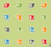 Insurance icon set Stock Photography