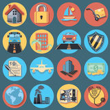 Insurance Icon Set Royalty Free Stock Photo