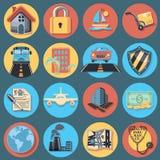 Insurance Icon Set royalty free illustration