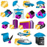 Insurance icons Royalty Free Stock Photo