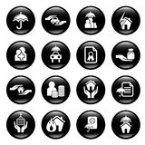 Insurance icons Stock Image