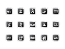Insurance icons Stock Photo