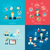 Insurance icons flat Royalty Free Stock Image