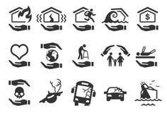 Insurance icons - Illustration Royalty Free Stock Photography