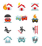 Insurance icons Royalty Free Stock Photography