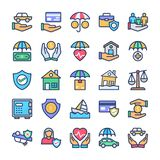 Insurance Icons Pack vector illustration