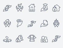 Insurance icons. Set of 15 insurance icons Stock Images