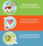Insurance icons set Stock Image