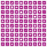 100 insurance icons set grunge pink. 100 insurance icons set in grunge style pink color isolated on white background vector illustration vector illustration