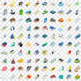 100 insurance icons set, isometric 3d style. 100 insurance icons set in isometric 3d style for any design vector illustration Stock Photography