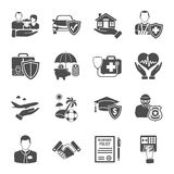Insurance Icons Set Stock Image