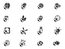 Insurance icons set Stock Photo