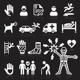 Insurance icons set. Royalty Free Stock Photos