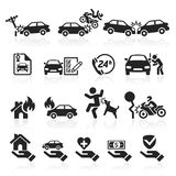 Insurance icons set. Vector Illustration Stock Image
