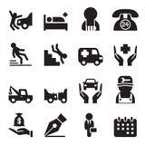 Insurance icons set Royalty Free Stock Image