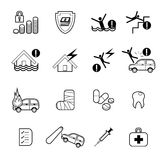 Insurance icons set vector illustration Royalty Free Stock Photos