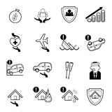 Insurance icons set vector illustration Stock Photography