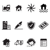 Insurance Icons Vector Illustration Symbol Royalty Free Stock Photos
