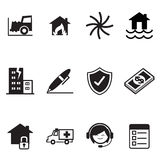 Insurance Icons Vector Illustration Symbol Set Stock Photos