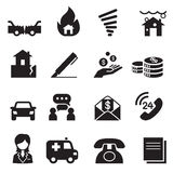 Insurance Icons Vector Illustration Symbol Set3 Royalty Free Stock Photo