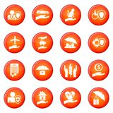 Insurance icons vector set Royalty Free Stock Photos