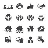 Insurance icons Royalty Free Stock Image