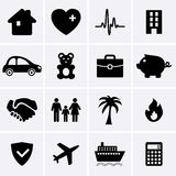 Insurance Icons. For web. Vector Stock Photos