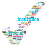 Insurance info-text graphics Royalty Free Stock Image