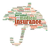 Insurance info-text graphics Royalty Free Stock Images