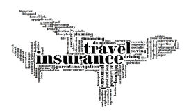 Insurance info-text graphics Stock Photos
