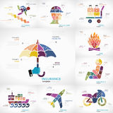 Insurance infographic Royalty Free Stock Image