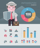 Insurance infographics elements Royalty Free Stock Photography