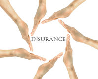 Insurance inscription in the frame Royalty Free Stock Photography