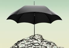 Insurance. Umbrella currency protection security wealth accident and  themes vector illustration