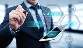 Insurance Life House Car Health Travel Business Health concept royalty free stock photo