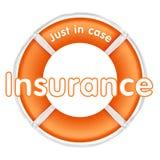 Insurance lifesaver. Life preserver illustration over white background Stock Images