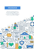 Insurance - line design brochure poster template A4 Stock Photography
