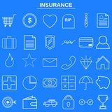 Insurance linear icon for website and mobile app Royalty Free Stock Images