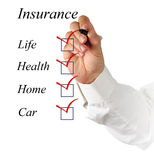 Insurance list stock photo