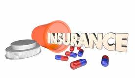 Insurance Medicine Coverage Prescription Bottle Royalty Free Stock Photography