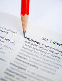 Insurance: minimizing risk. Stock Image